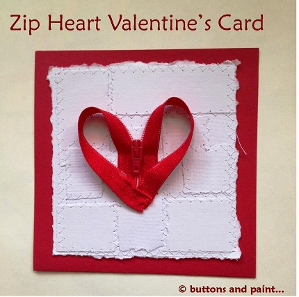 Tutorial: Zipper heart Valentine