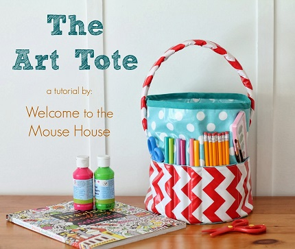 Tutorial: Art tote bucket bag