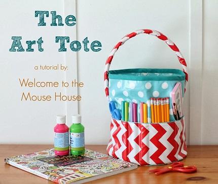 Tutorial: Art tote bucket bag