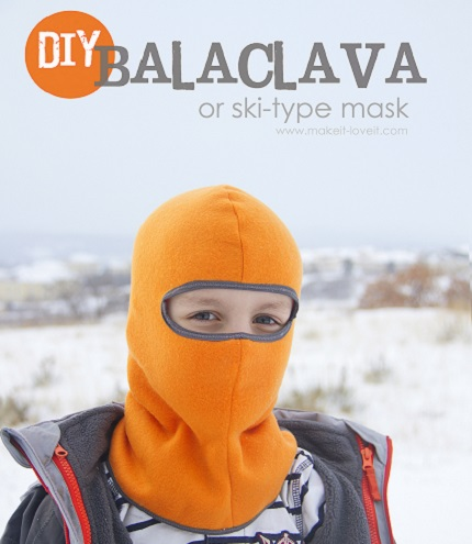 Free pattern: Balaclava or ski mask hat for a child