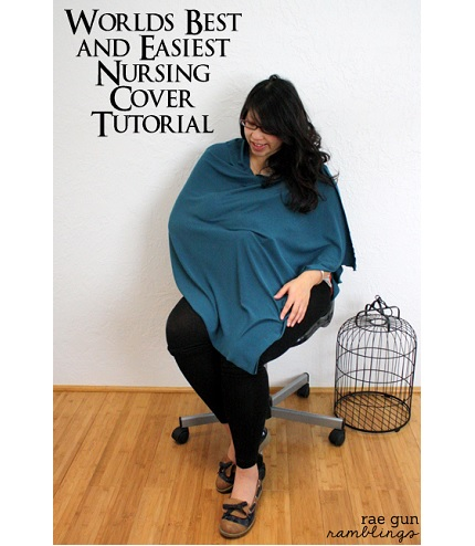 Tutorial: One seam shawl style nursing cover