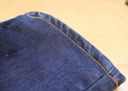 Tutorial: Pinch hem a pair of jeans to preserve the washed hem