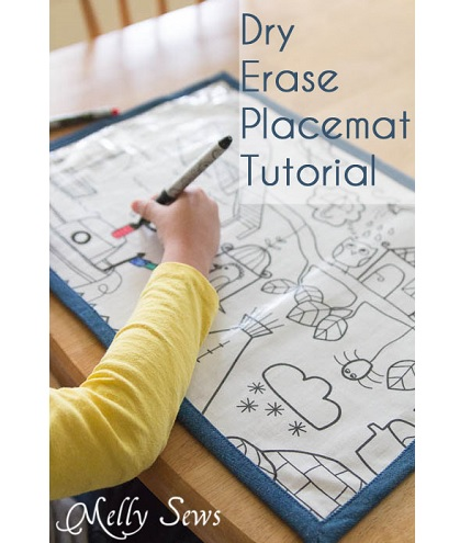 Tutorial: Dry erase coloring placemat
