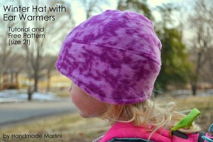 Free pattern: Toddler's fleece ear warmer winter hat