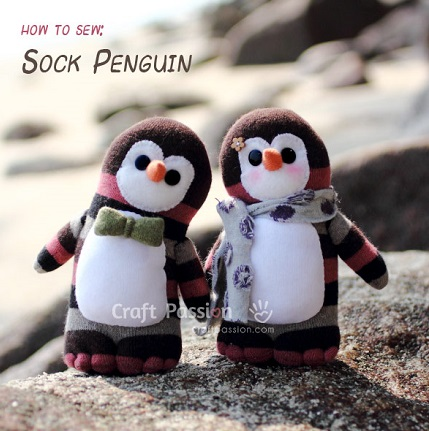 Tutorial: Sock penguin softie