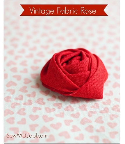 Tutorial: Vintage fabric rose
