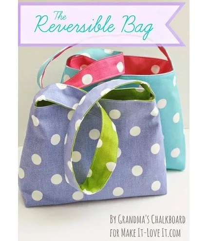 Tutorial: Reversible bag for little girls