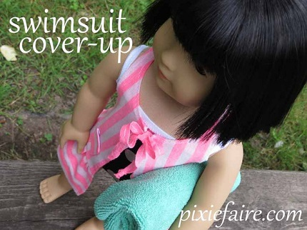 "Tutorial: Swim cover-up for an 18"" doll"