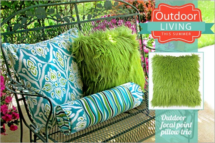 Tutorial: Outdoor pillow trio with square and bolster styles