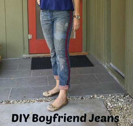 Tutorial: DIY side stripe boyfriend jeans