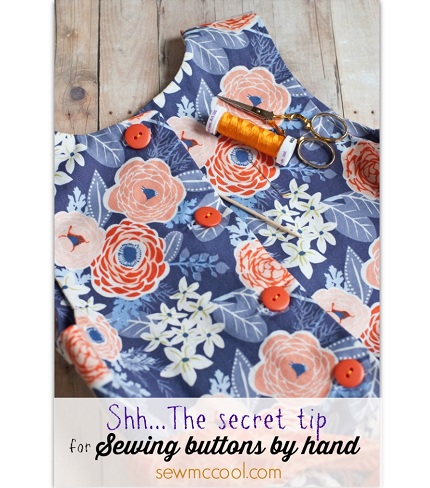 Tutorial: How to sew buttons by hand