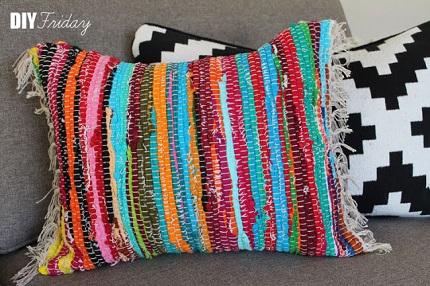 Tutorial: Rag rag throw pillow