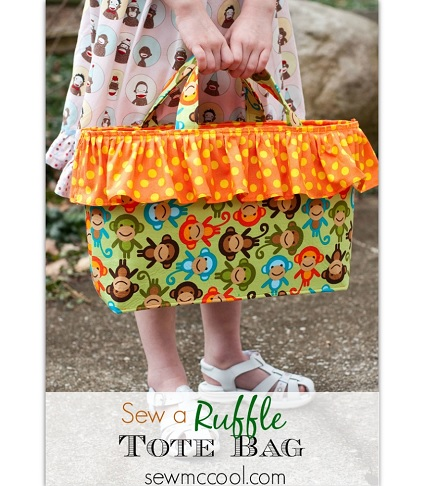 Tutorial: Pretty ruffled tote bag