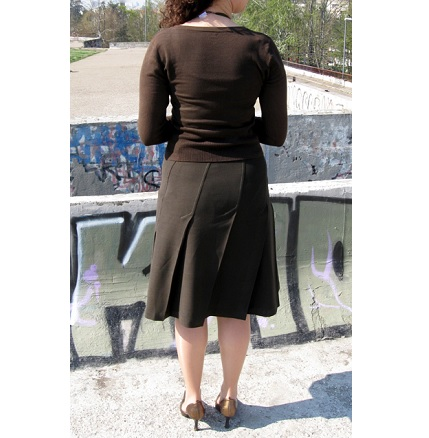 Tutorial: Twisted pleat skirt