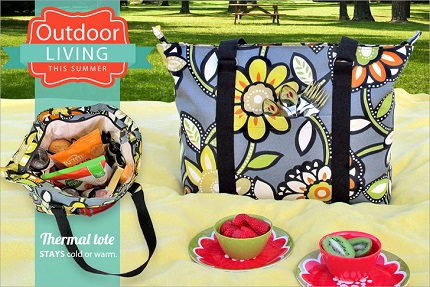 Tutorial: Pocketful Zippered Picnic Tote