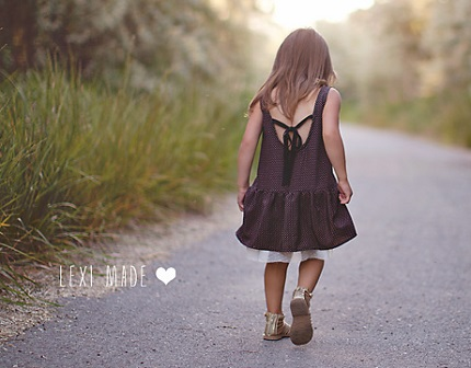 Tutorial: Little girl's drop waist sundress with a high low hem