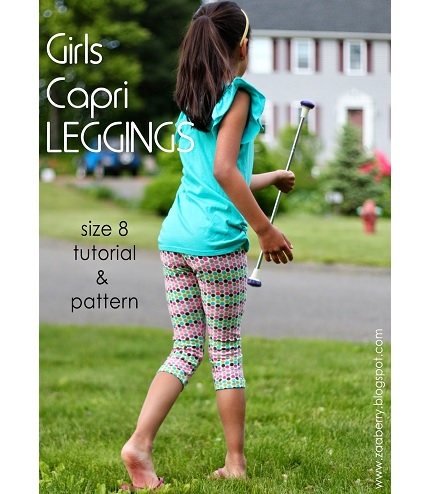 Free pattern: Girls capri leggings