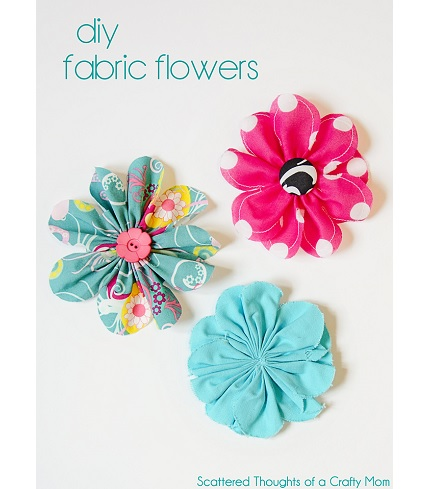 Tutorial: Pretty gathered fabric flowers