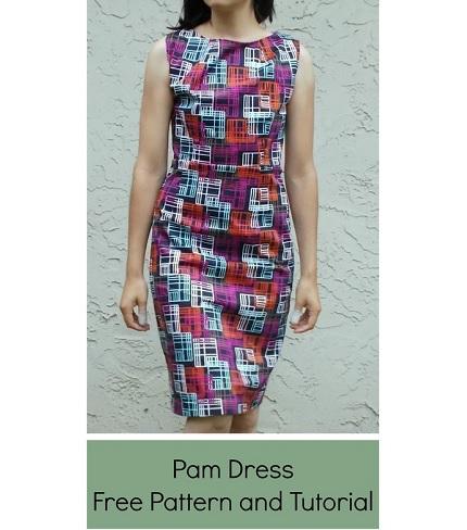 Free pattern: Sleeveless fitted dress