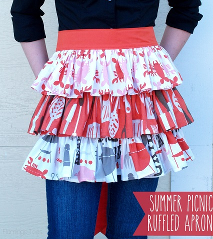 Tutorial: Easy Summer Picnic Ruffled Apron