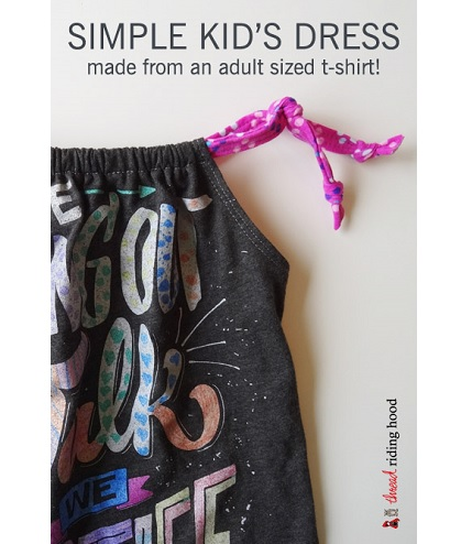 Tutorial: Little girl dress from an adult t-shirt