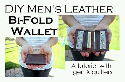 tute men's wallet with gen X quilters tune