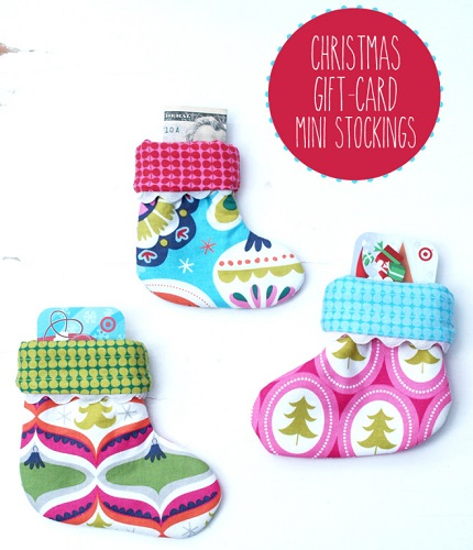 Tutorial: Christmas gift card mini stockings