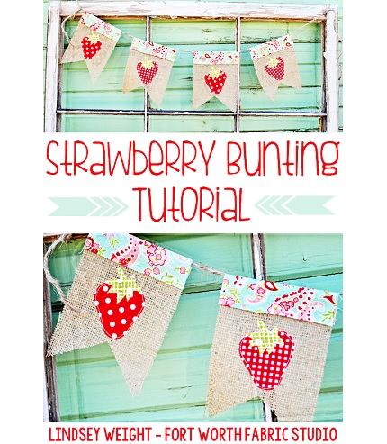 Tutorial: Strawberry burlap bunting