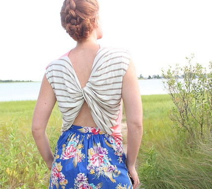 Tutorial: Twist back top