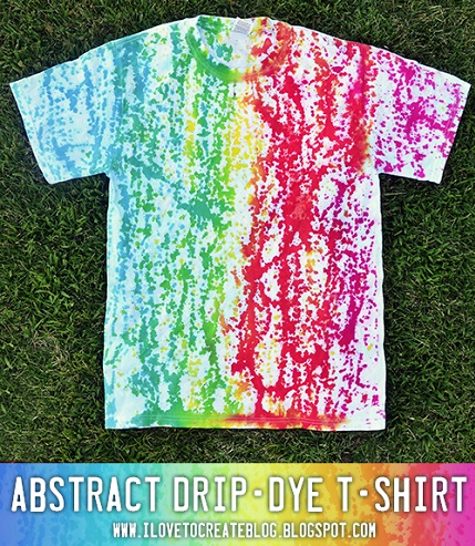 Tutorial: Abstract drip dye t-shirt