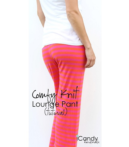 Free pattern: Comfy knit lounge pants