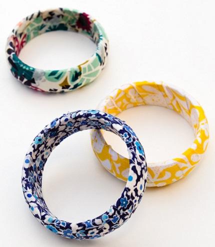 Video tutorial: Fabric wrapped bangle bracelets