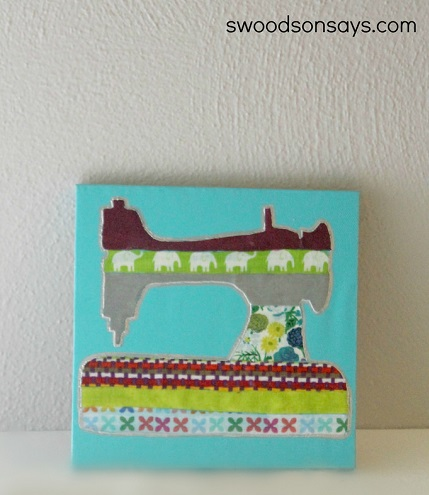 Tutorial: No-sew fabric canvas art