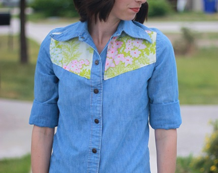 Tutorial: Floral yoke top