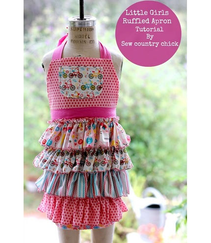Tutorial: Little girls ruffled apron