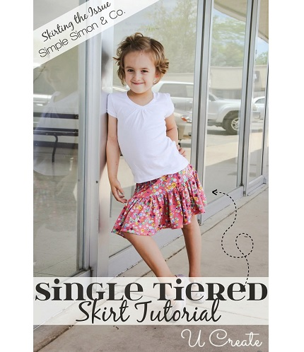 Tutorial: Single tiered skirt for girls