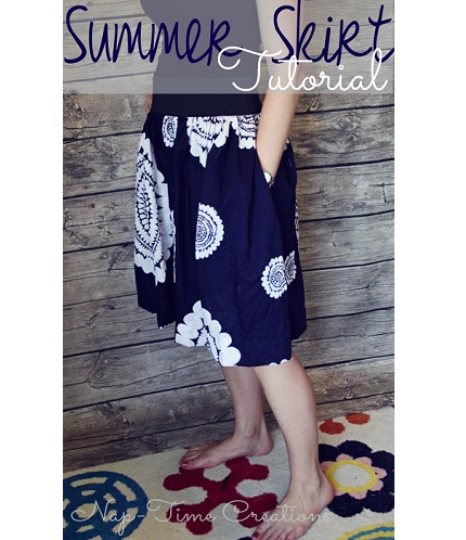 Tutorial: Simple summer skirt with pockets