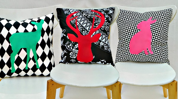 Tutorial: Graphic silhouette pillows