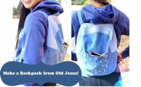 Video tutorial: Make a backpack from old jeans