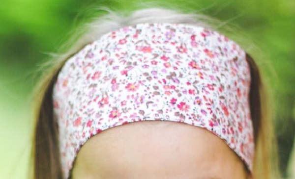 Tutorial: Wide fabric headband for little girls