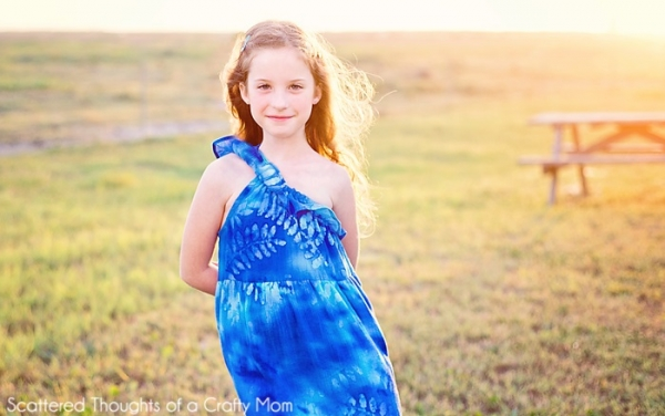 Tutorial: Girls one shoulder maxi dress