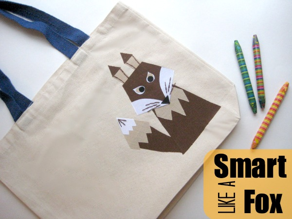 Free pattern: Smart Like a Fox book bag