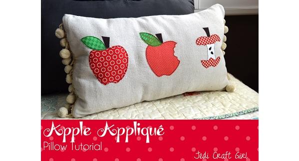 Tutorial: Appliqued apple pillow