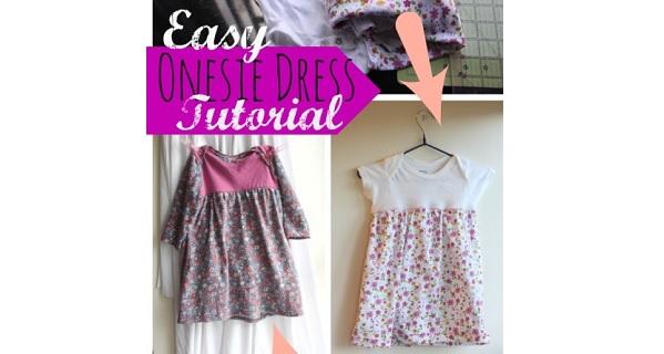 Tutorial: Easy onesie dress