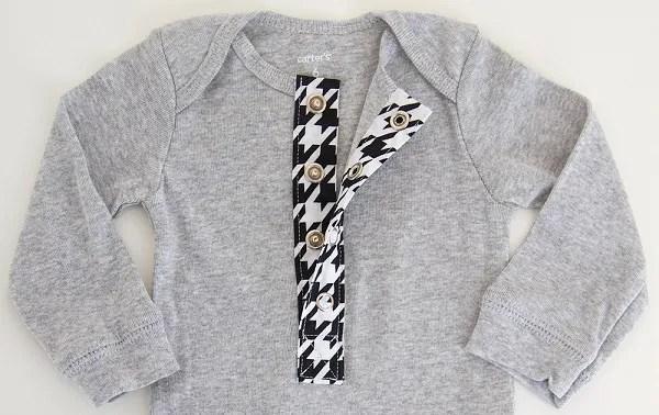 Tutorial: Add a henley button placket to a shirt