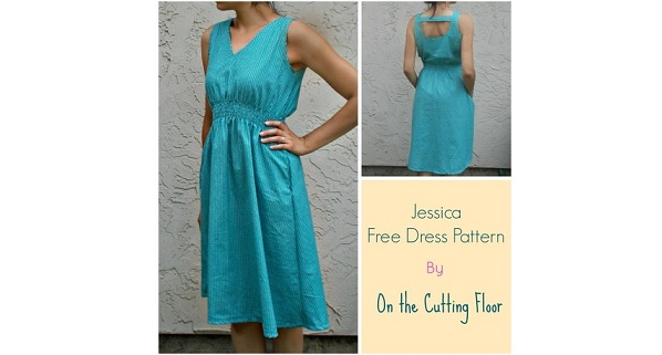 Tutorial: Jessica sleeveless V-neck dress