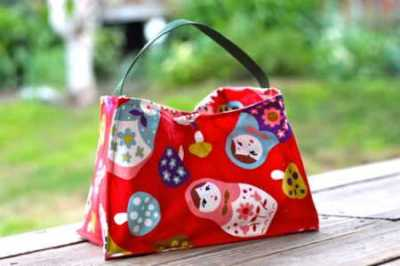 lined lunch tote