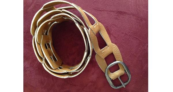Tutorial: No-sew leather link belt