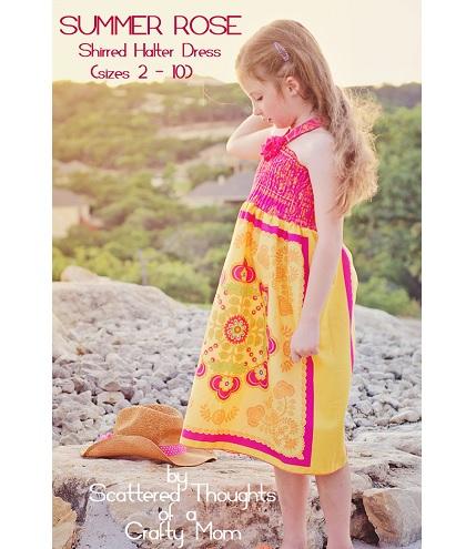 Tutorial: Girls shirred halter dress