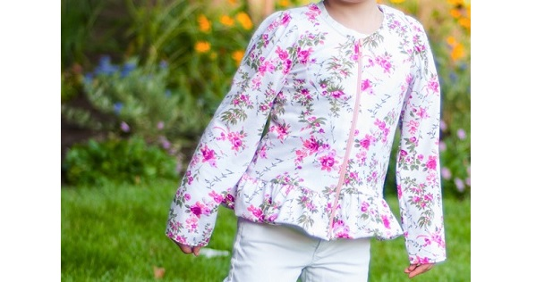 Free pattern: Lizzy peplum jacket for little girls
